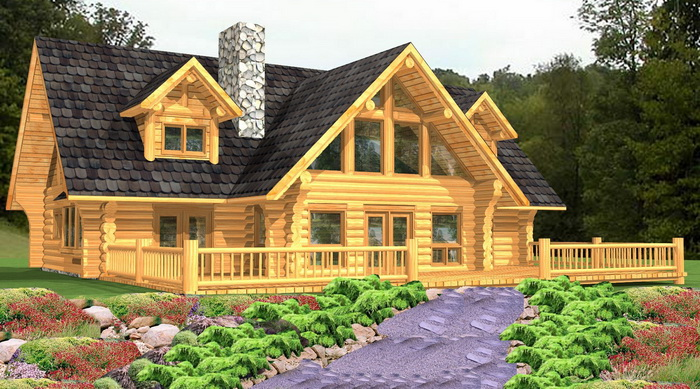 Log home package lamberti plans designs international for Log cabin home plans and prices