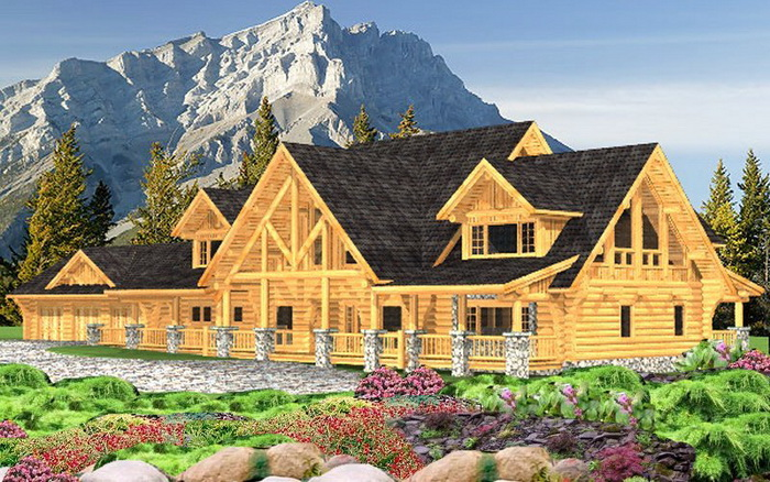 Log House Luxury Package O 39 Grady Plans Designs
