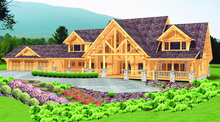 Log House Luxury Package O Grady Plans Designs Main Floor Plan. Log Home  Plans And
