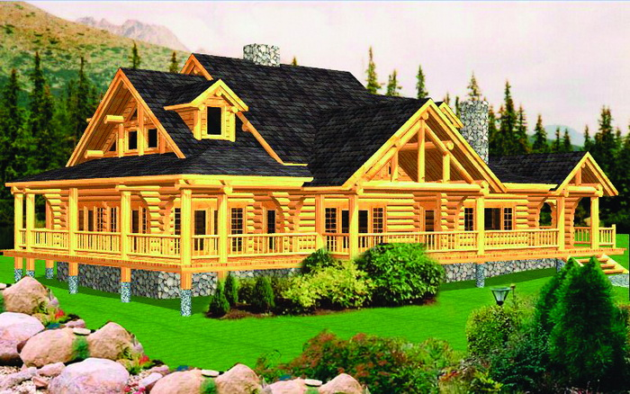 Log Home Lodge Package Royal Antler Plans Designs