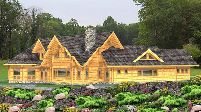 log post and beam package kettlewell log home plans
