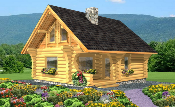 Log cabin plans 2 bdr log ranchers package plans bc for Custom luxury log homes