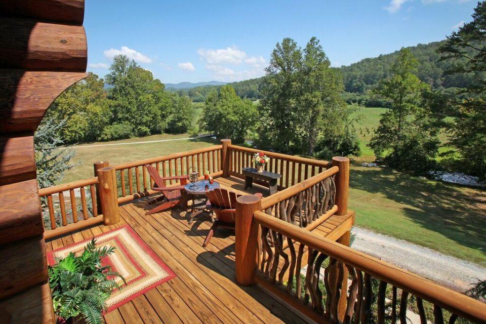 Log Home Deck
