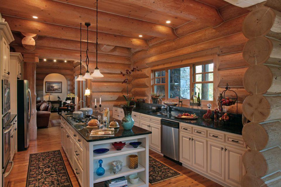 Luxury Log Kitchen 2